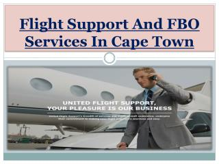 Flight Support And FBO Services In Cape Town
