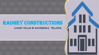 Luxury Villas in Gachibowli, Hyderabad