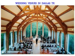 WEDDING VENUES IN DALLAS TX
