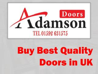 Buy Best Quality Doors in UK