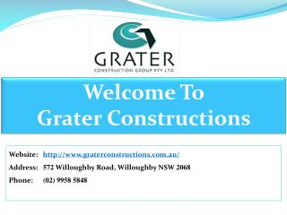 Grater Constructions