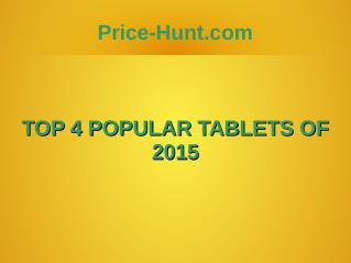Top 4 Tablets of 2015