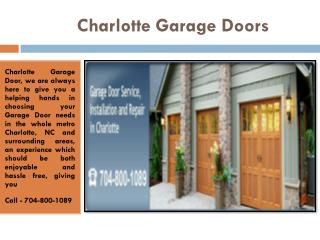 Garage Door Repair Charlotte NC, Openers & Installation Company