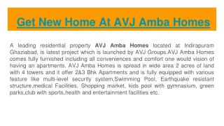 Get New Home At AVJ Amba Homes