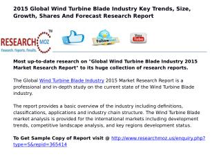 Global Wind Turbine Blade Industry 2015 Market Research Report