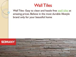 Somany Tiles For Decor your Home