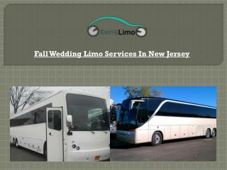 Fall Wedding Limo Services In New Jersey