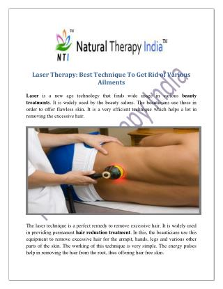 Laser Therapy Treatment in India | Laser Hair Therapy Experts | Clinic