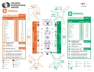Orlando International Airport Wayfinding Map