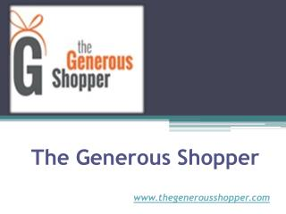 Charity Shopping Online