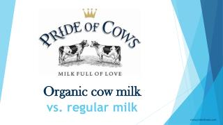 Organic cow milk vs. regular milk