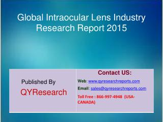 Global Intraocular Lens Market 2015 Industry Growth, Overview, Analysis, Share and Trends