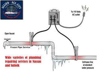 Wide varieties of plumbing repairing services in Nassau and Suffolk