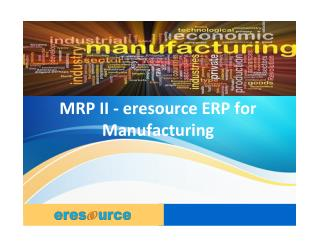 ERP Software for Manufacturing Industry