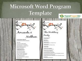 Microsoft Word Program Templates By Funeralprogram Site