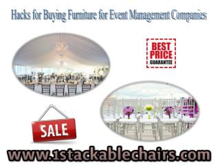 Hacks for Buying Furniture for Event Management Companies