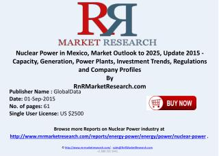 Nuclear Power in Mexico Market Capacity Generation, Power Plants, Investment Trends, Regulations and Company Profiles