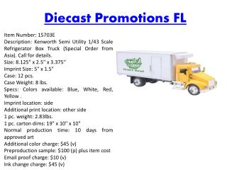 Diecast Promotions FL