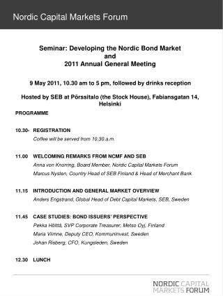 Nordic Capital Markets Forum