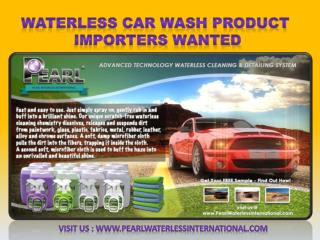 The Waterless Car Wash Product