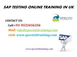 sap testing online training classes in uk
