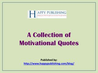 A Collection of Motivational Quotes