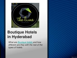 What are Boutique hotels and how different are they with the rest of the Types of Hotels
