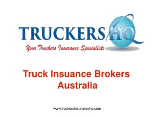 Latest Truck Insurance Brokers Australia