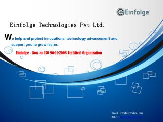Patent Registration Services By Einfolge Technologies