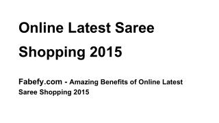 online latest Sarees shopping 2015