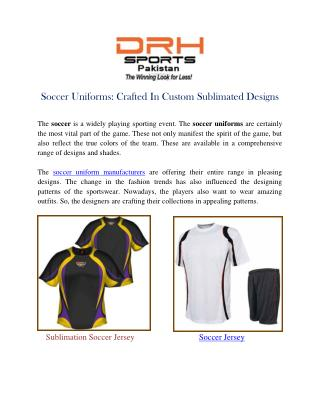 Soccer Uniforms Manufacturers Suppliers