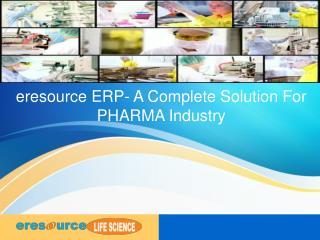 Pharmaceutical ERP | ERP Software for Pharmaceutical Industry