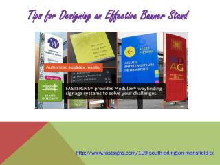 Tips for Designing an Effective Banner Stand