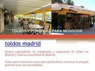 toldos baratos Madrid