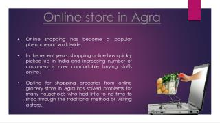 Online grocery store in Agra | Start Online store in Agra
