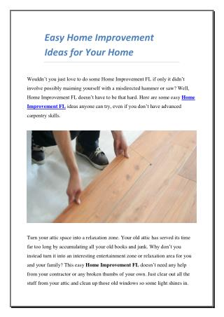 Easy Home Improvement Ideas for Your Home
