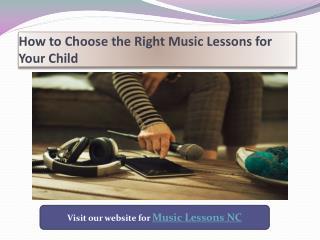 Music Lessons NC