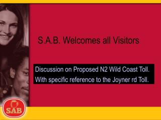 S.A.B. Welcomes all Visitors