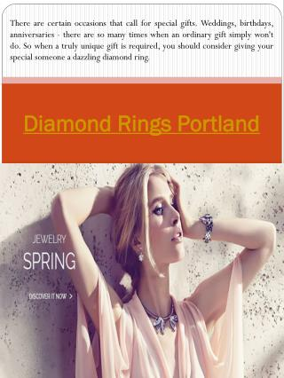 Diamond Rings Portland