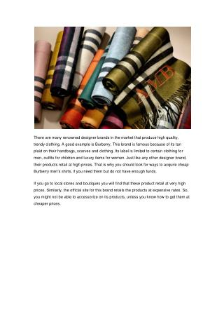 Wholesale Burberry Mens Shirts At BrandsWeekEnd.su