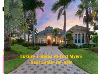 #Luxury Fort Myers MLS Listings for Sale