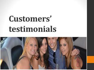 Customers' testimonials