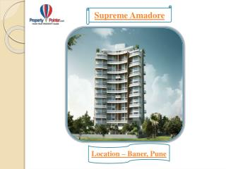 Luxurious Supreme Amadore by Supreme Landmark in Baner pune