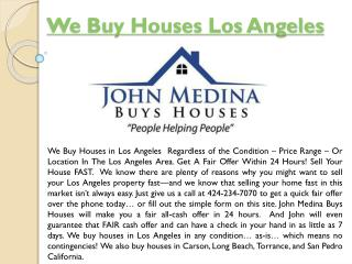 Sell My House Quick Los Angeles