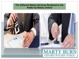 The Different Notary Services Rendered to the Public by Notary Oxford