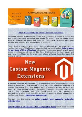 Why Color Swatch Magento Extension is Useful to Your Business