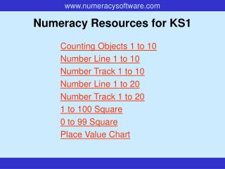 Numeracy Resources for KS1