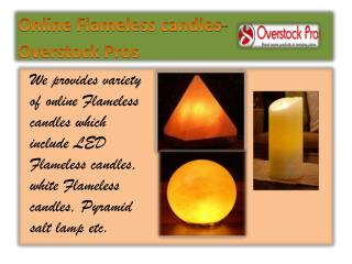 Online Flameless candles-Overstock Pros