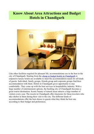 Budget Hotels in Chandigarh