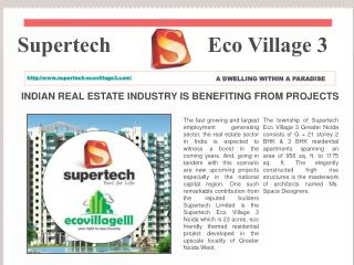 Supertech, Eco Village 3, greater noida, extension west